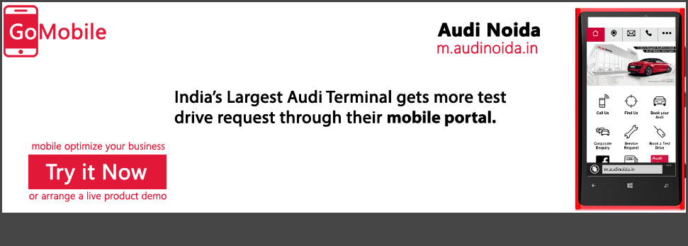 Audi Noida uses a Live Mobile Platform.
