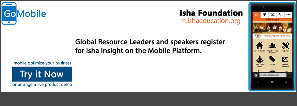 Isha Foundation uses a mobile portal.