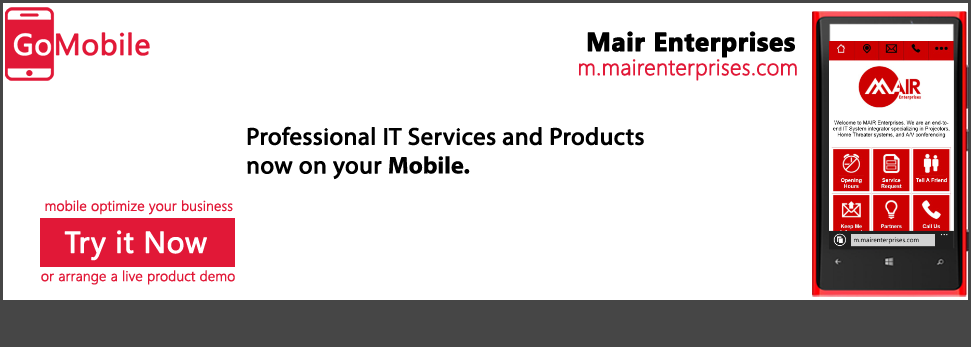 Mair Enterprises uses a mobile solution.