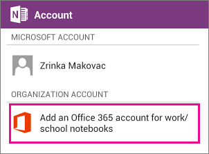 OneNote app sign in screen | Foetron